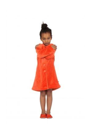 Woody kinderbadjas oranje