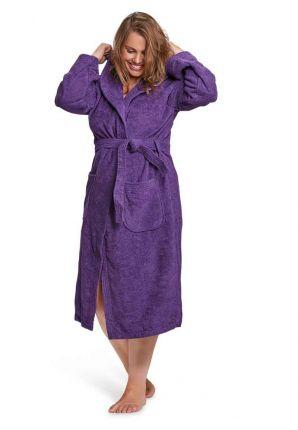badstof paarse badjas
