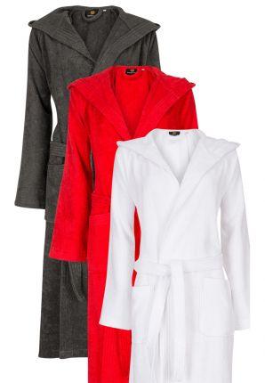 Badjas met kap in diverse kleuren