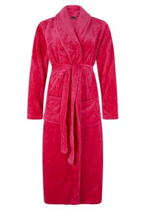 Fleece badjas roze