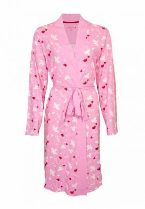 Trendy roze kimono hartjes – dun katoen