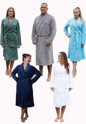 Badjas fleece unisex – 6 kleuren