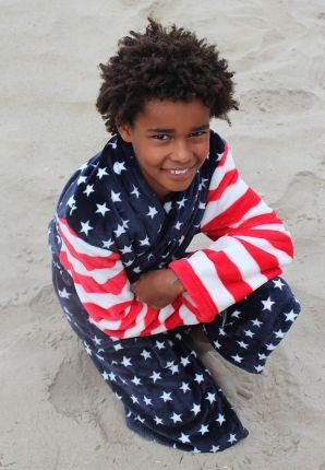 Amerikaanse badjas voor kinderen