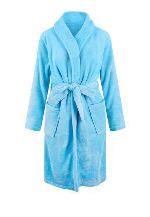 Licht blauwe kamerjas in fleece