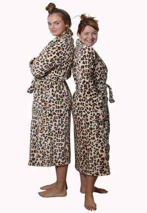 tijgerprint badjas dames van fleece