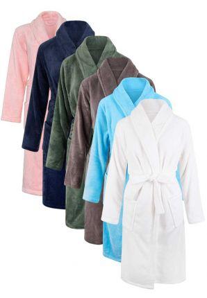 Unisex badjas met naam borduren