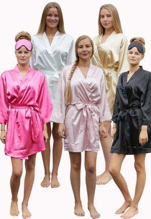 Satijnen badjas in kimono model – 5 kleuren