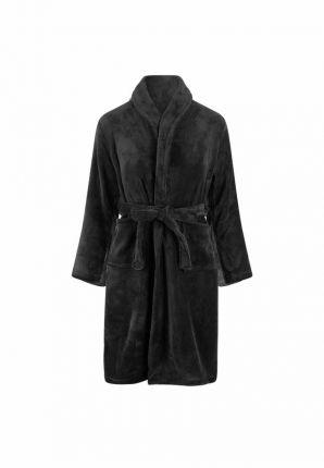 Zwarte kinderbadjas in fleece
