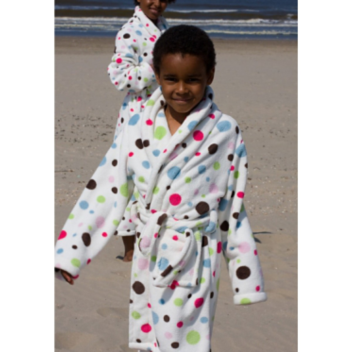 kinderbadjas met stippen