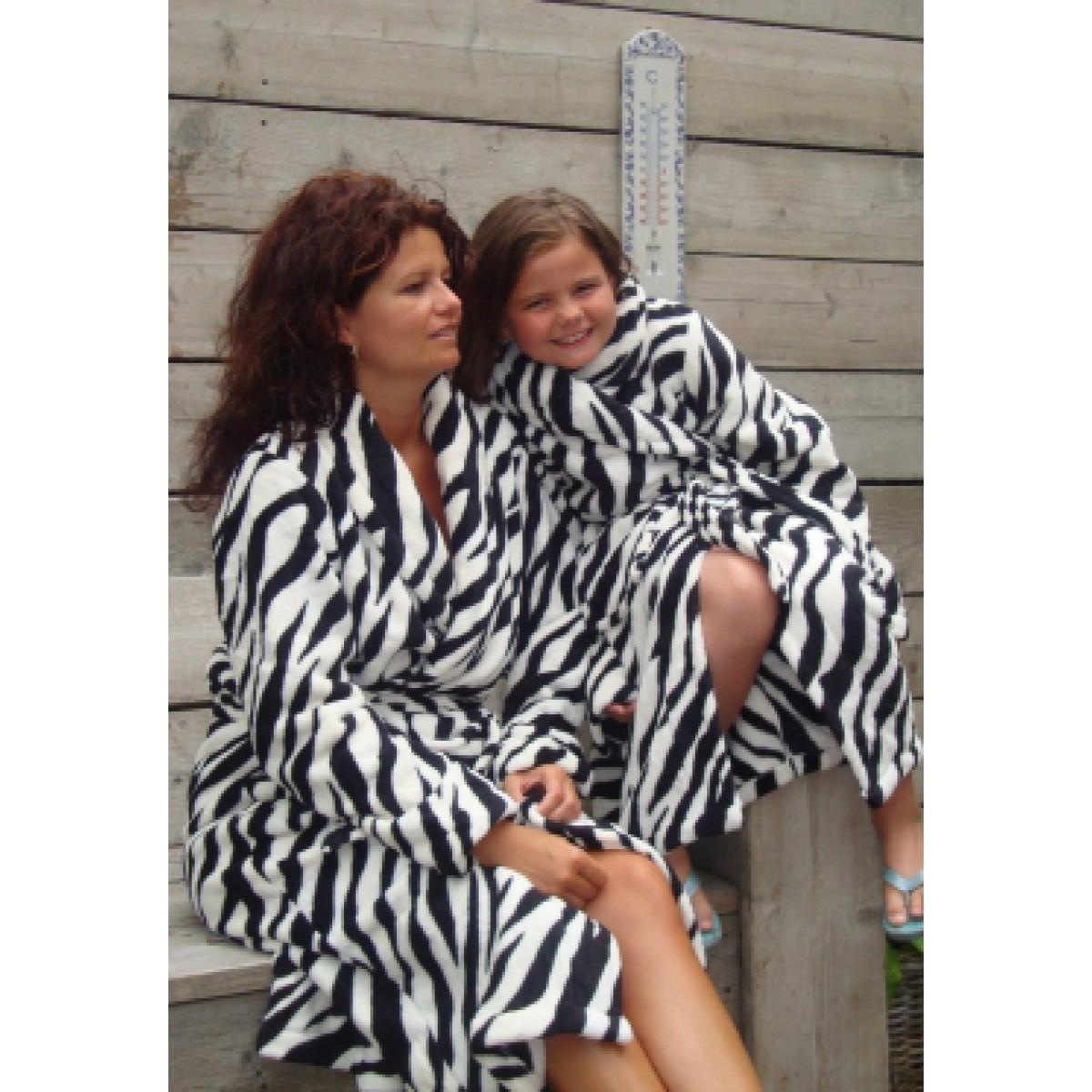 zebraprint ochtendjas