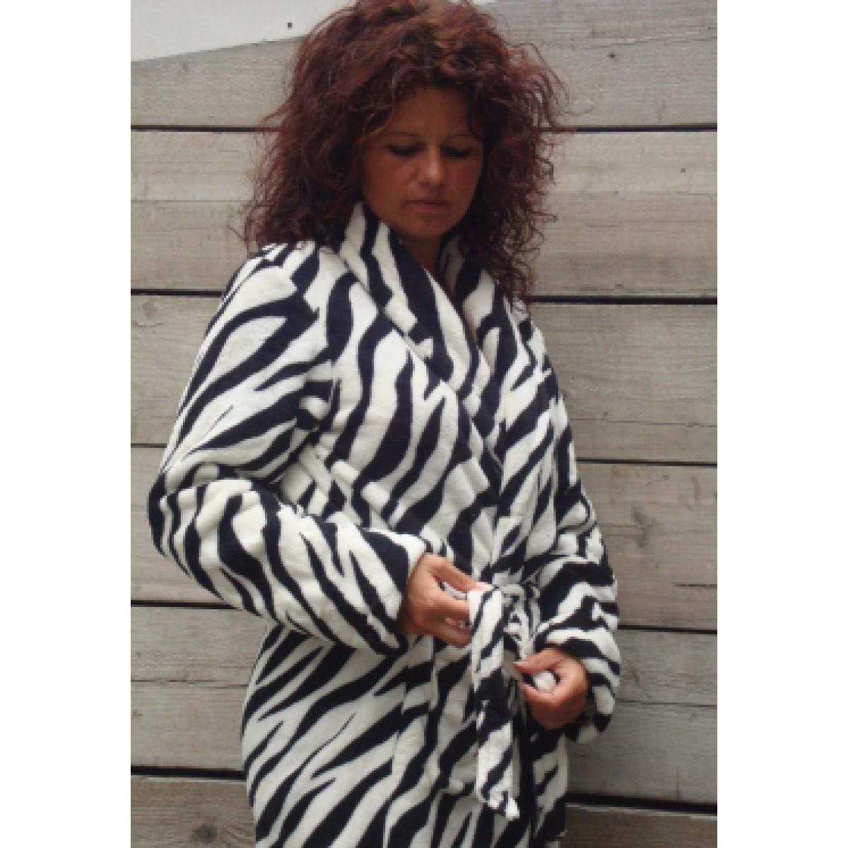 Badjas met zebramotief