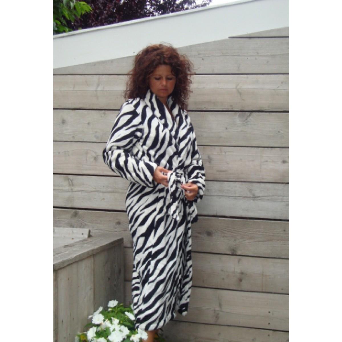 Badjas zebradesign