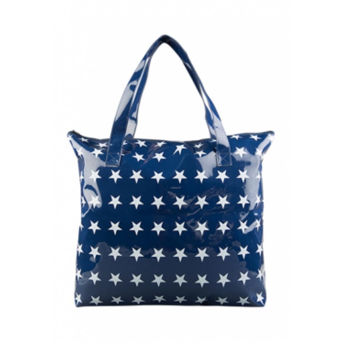Blauwe tas voor uw badjas
