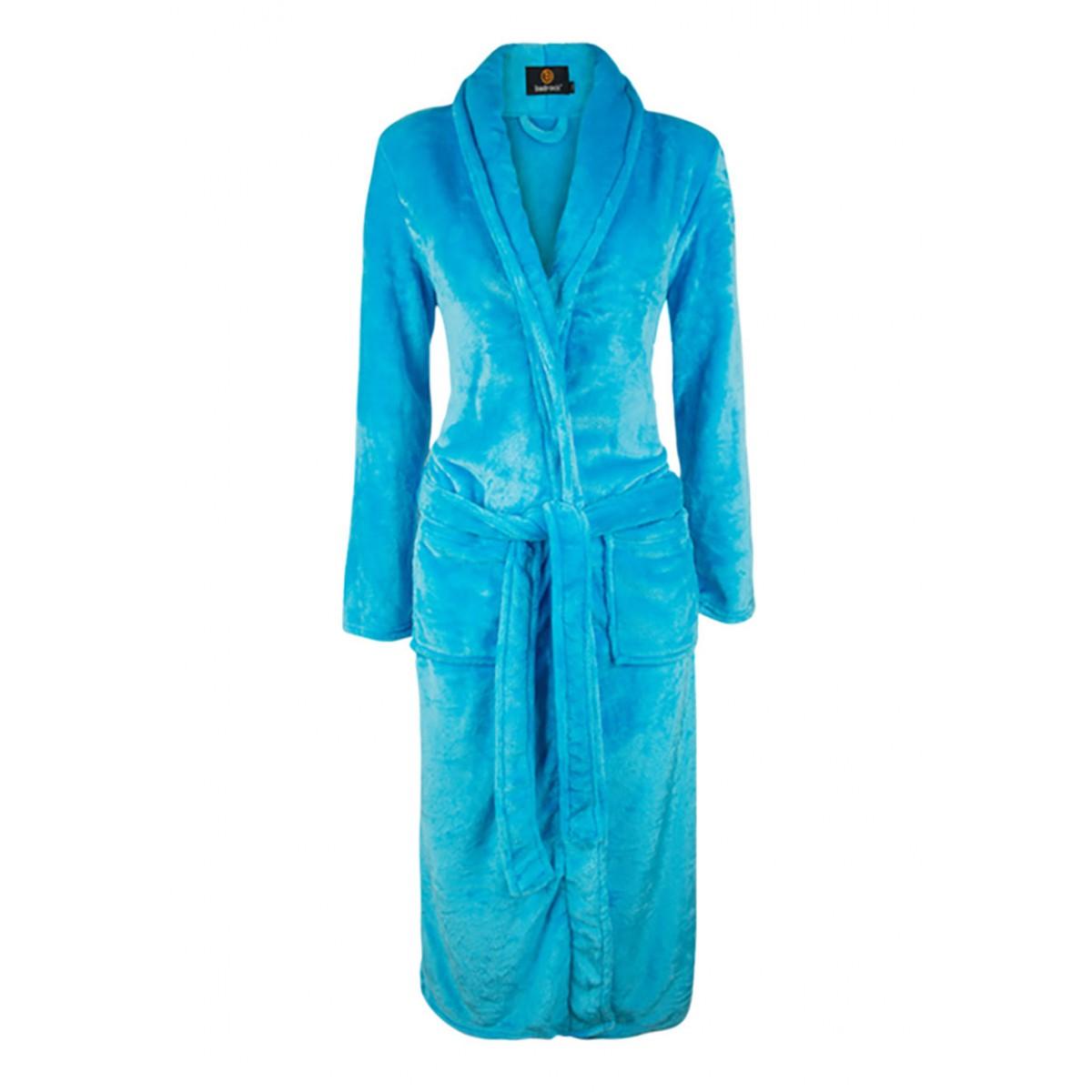 Aquablauwe badjas