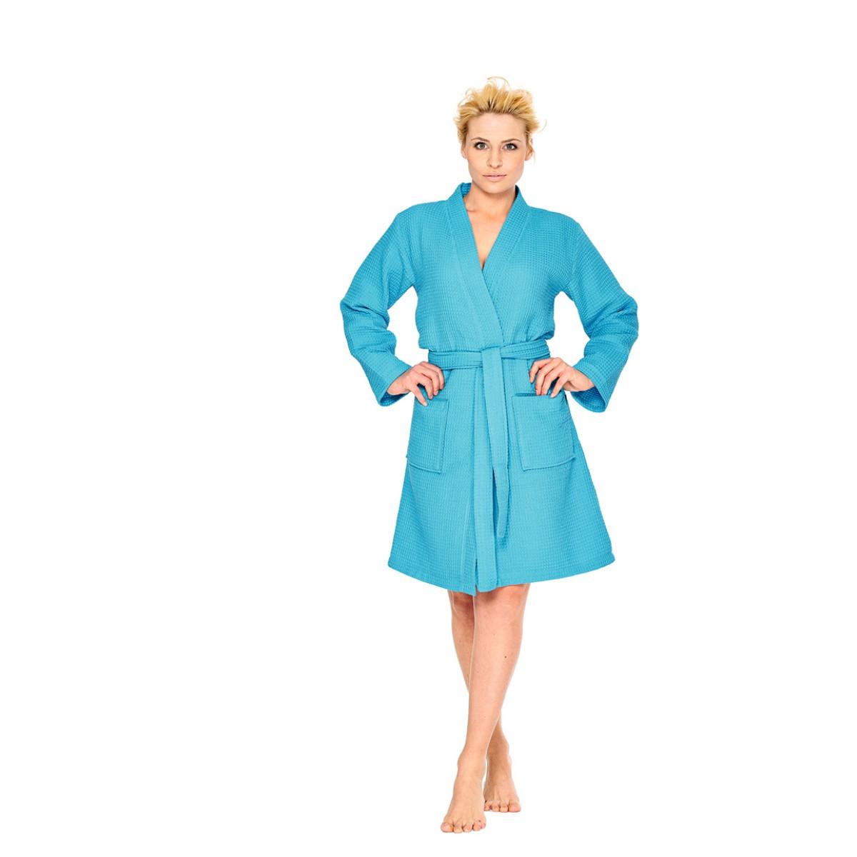 badjas kimono turquoise