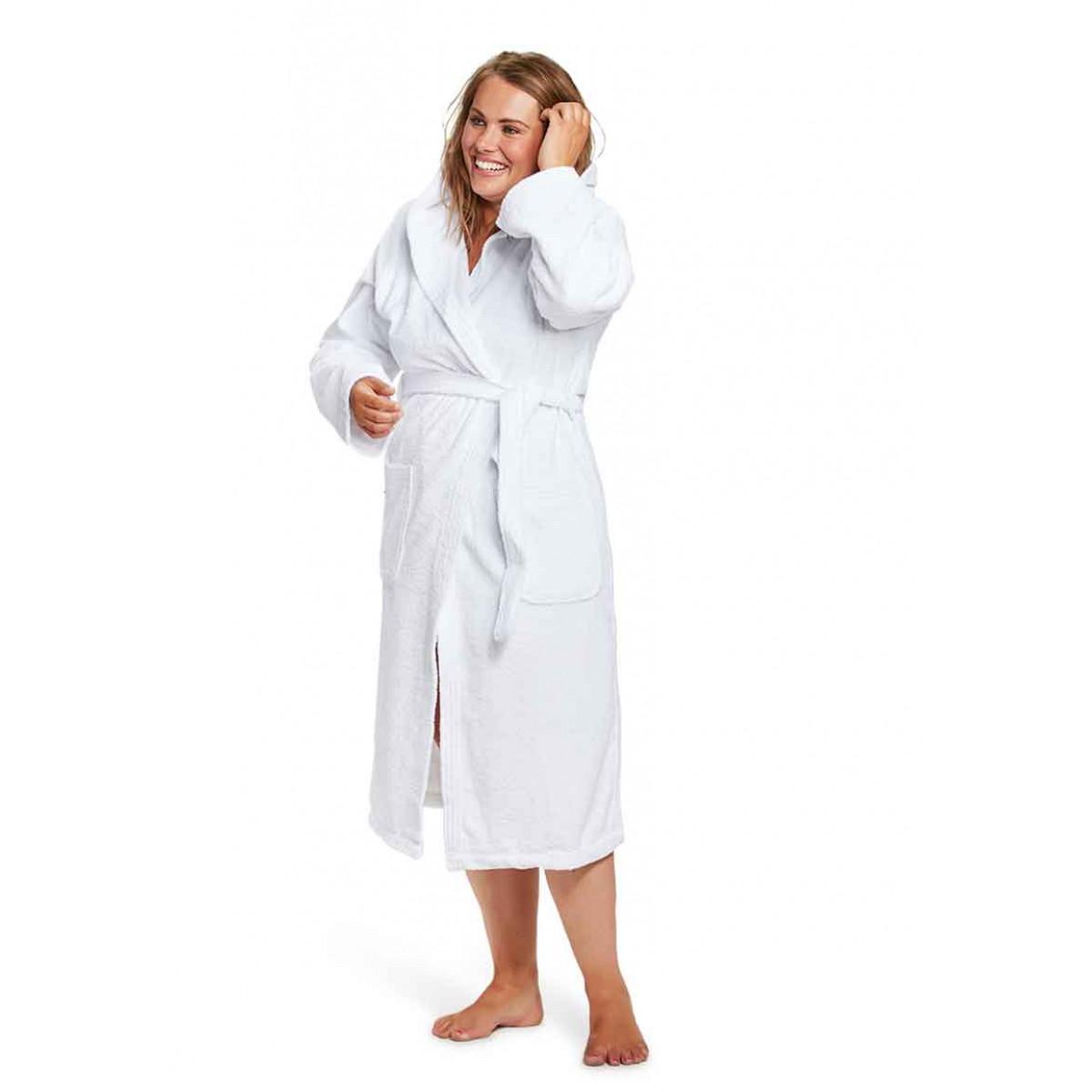 witte badjas badstof