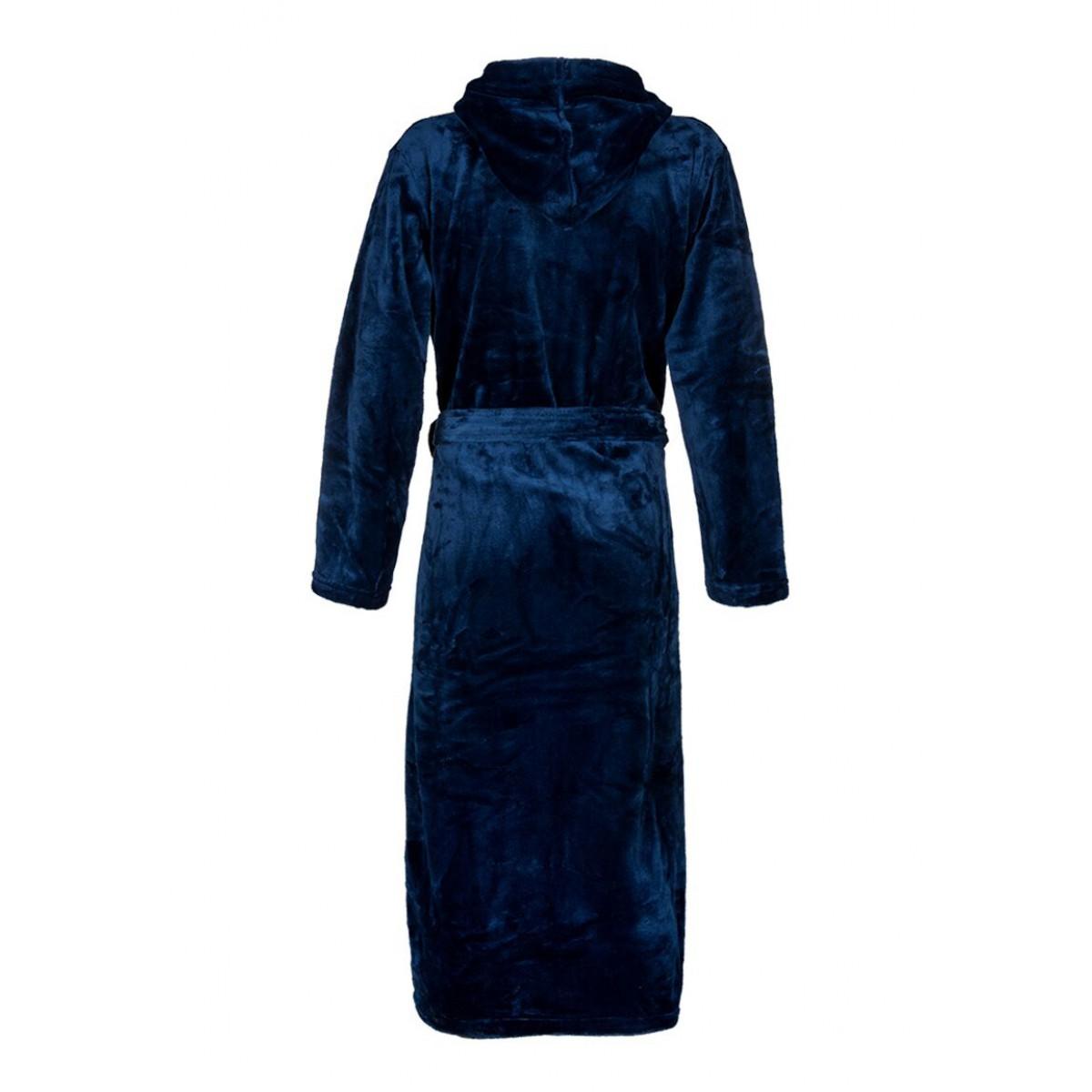 blauwe ochtendjas fleece