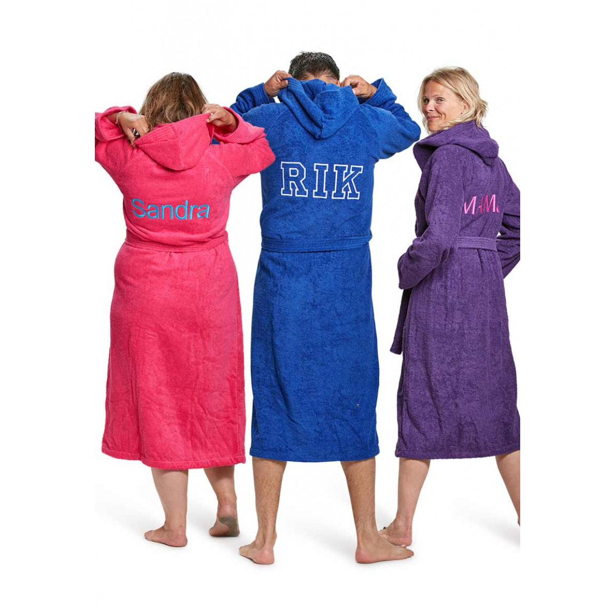 Borduren van badjassen met naam