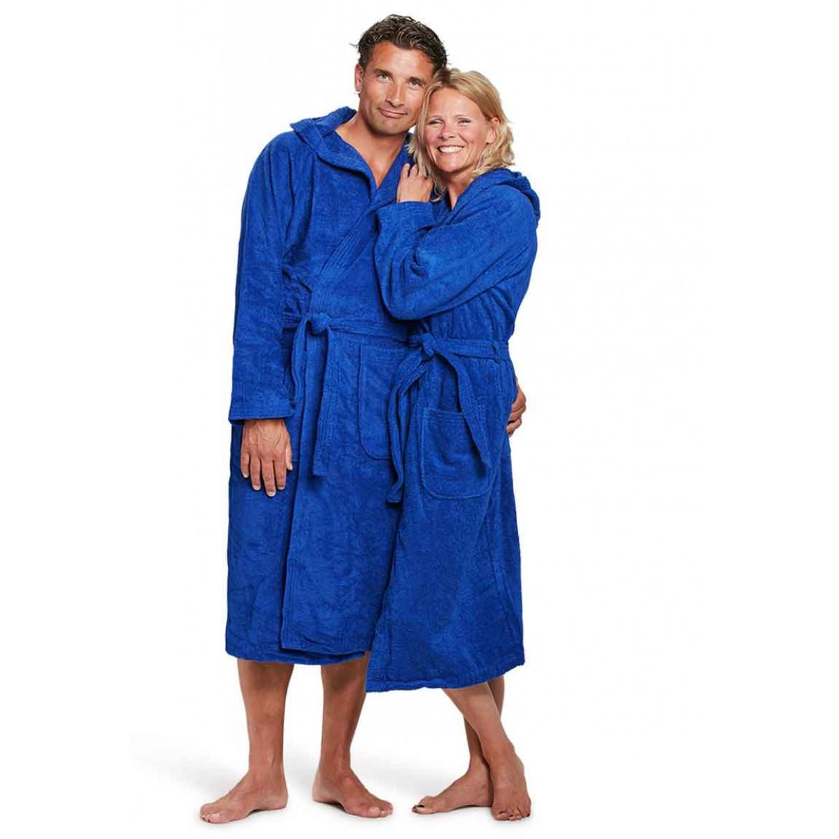 Koningsblauwe badjas