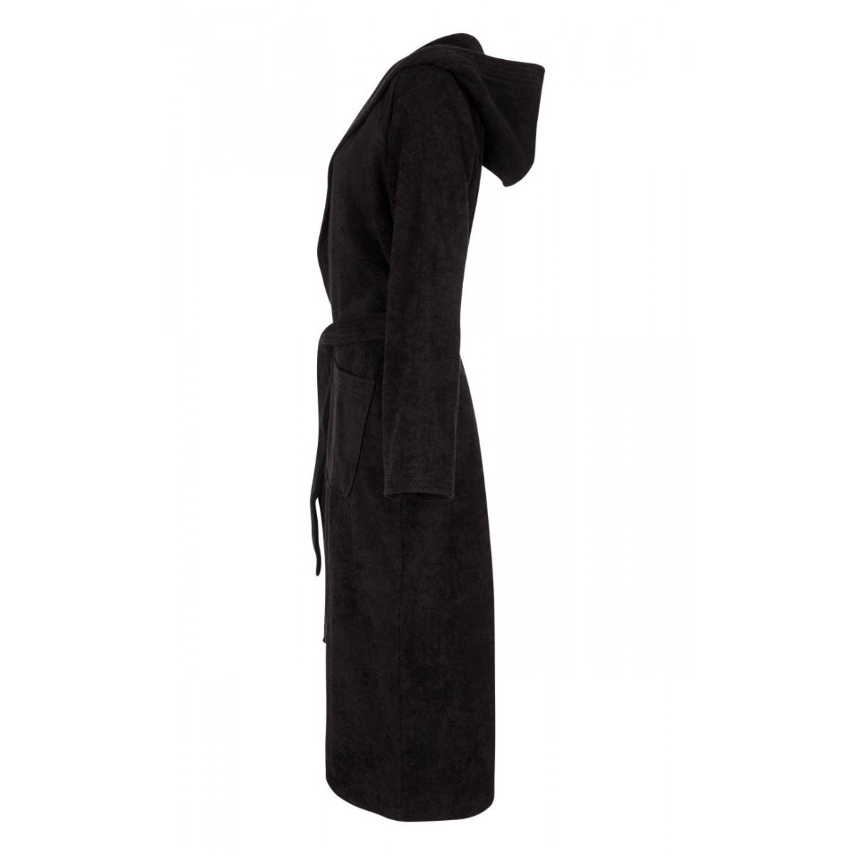 zwarte badjas badstof