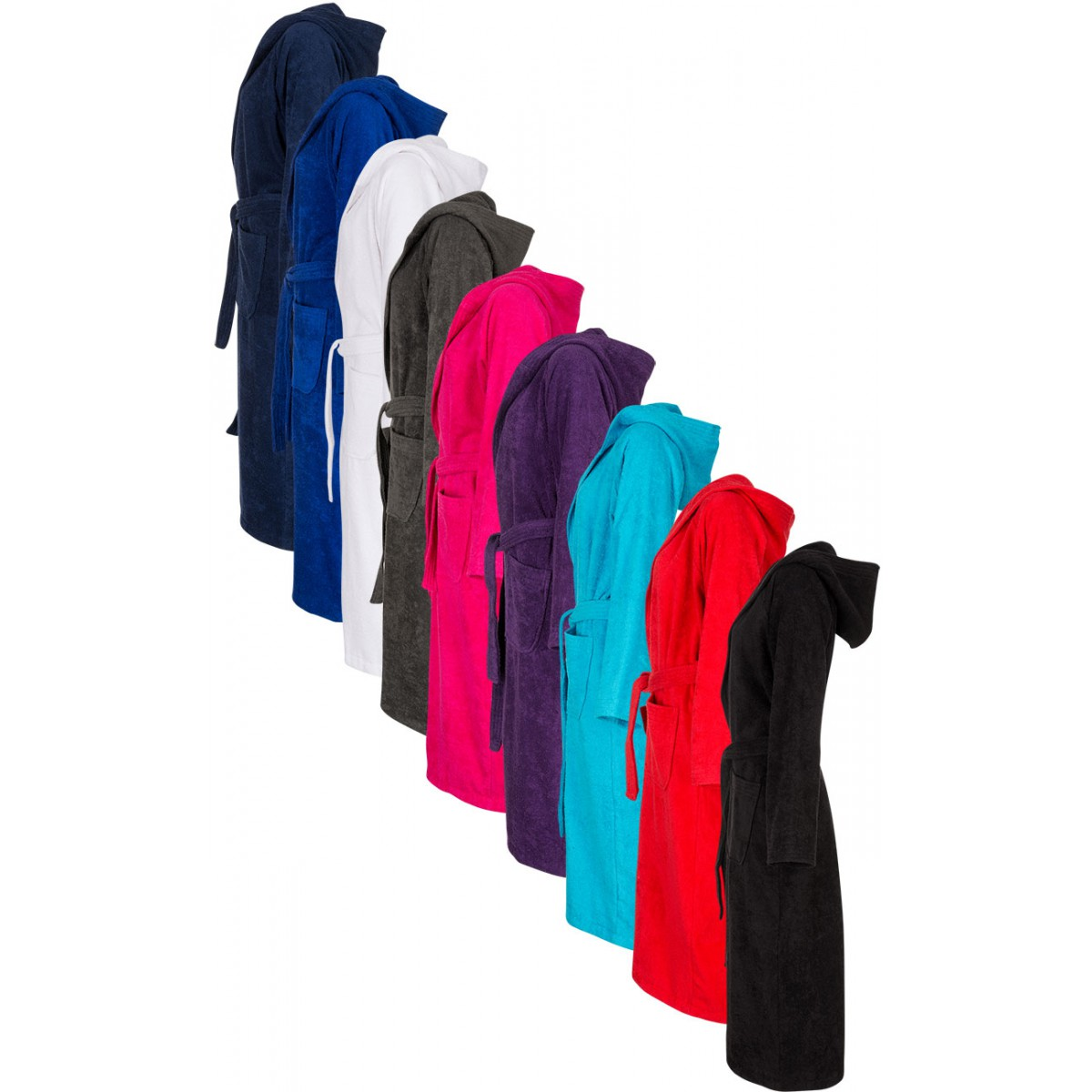 Gekleurde badjassen met naam