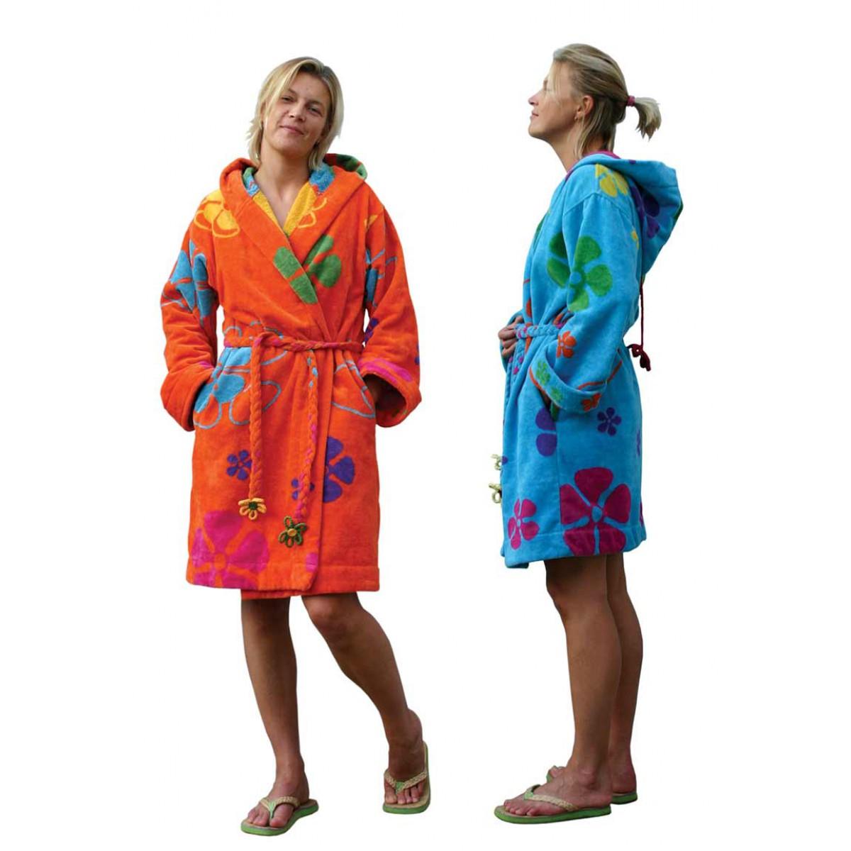 dames badjas in sixties stijl
