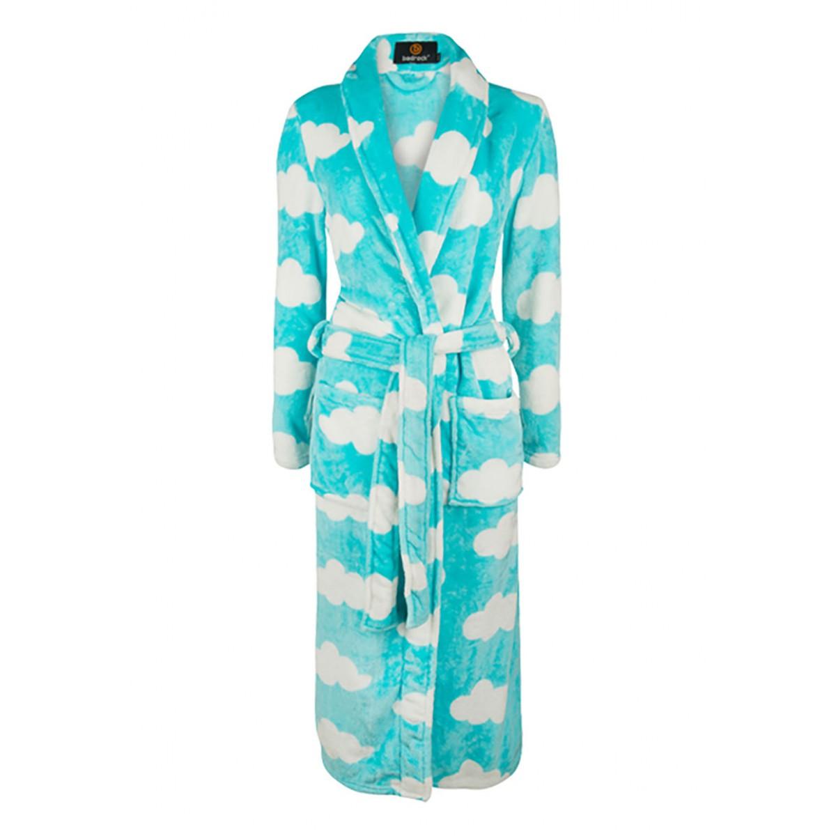 badjas met wolkenmotief