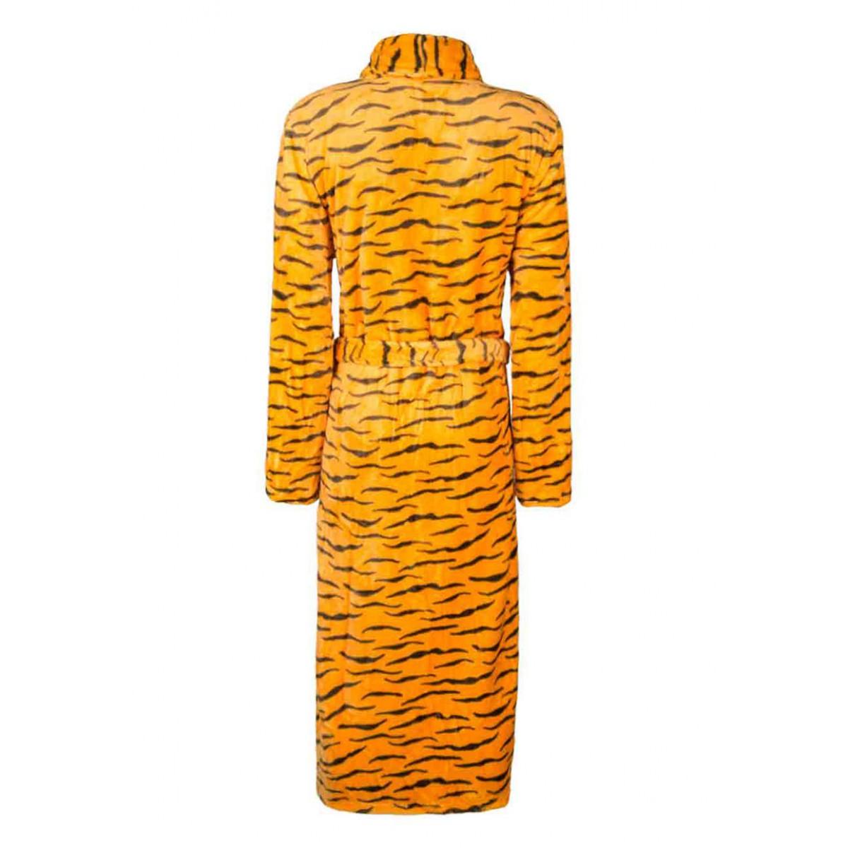 Fleece badjas met tijgerprint