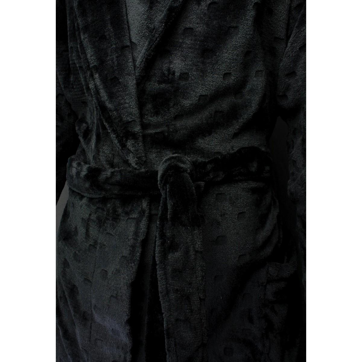 effen badjas zwart