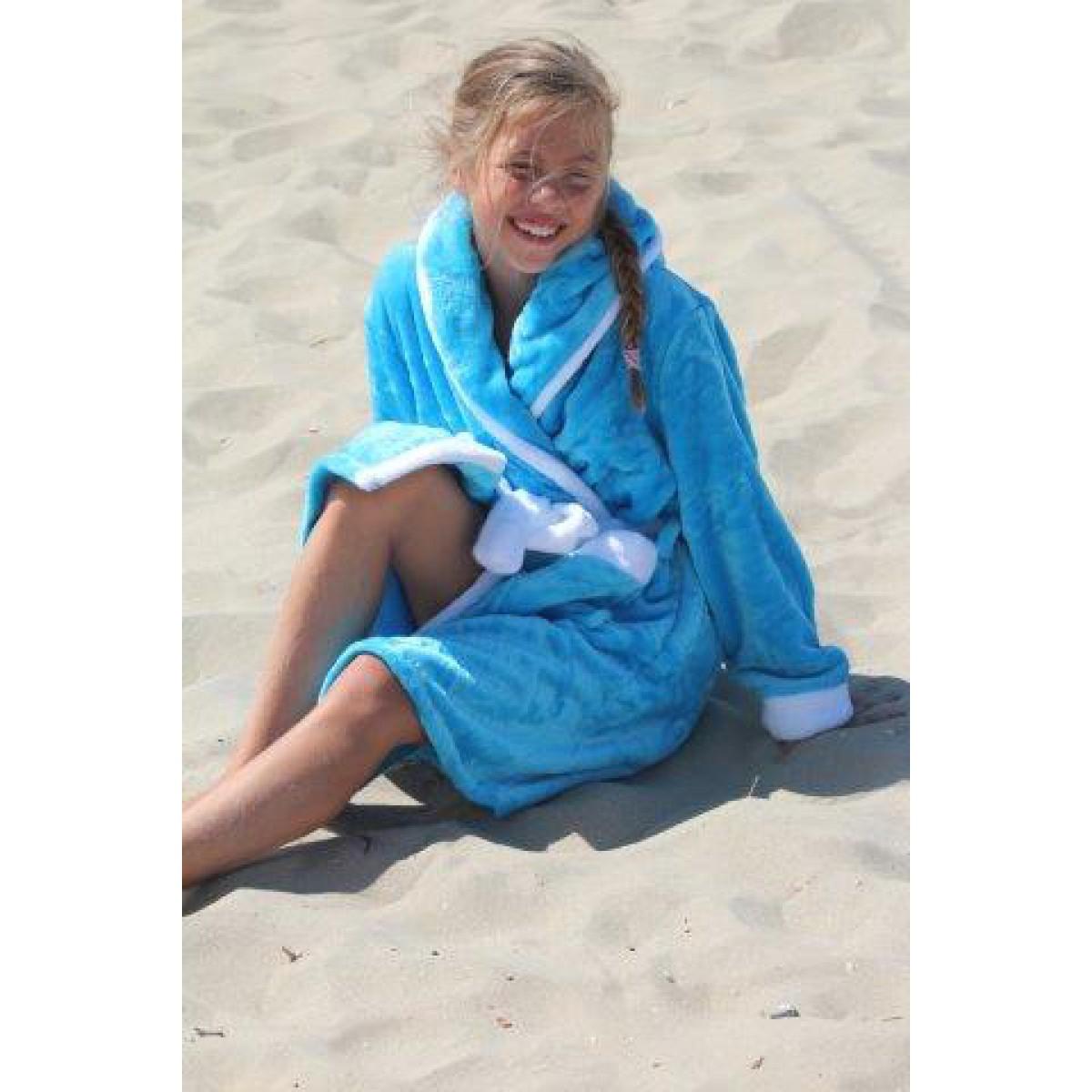 Online Kinderbadjassen met capuchon