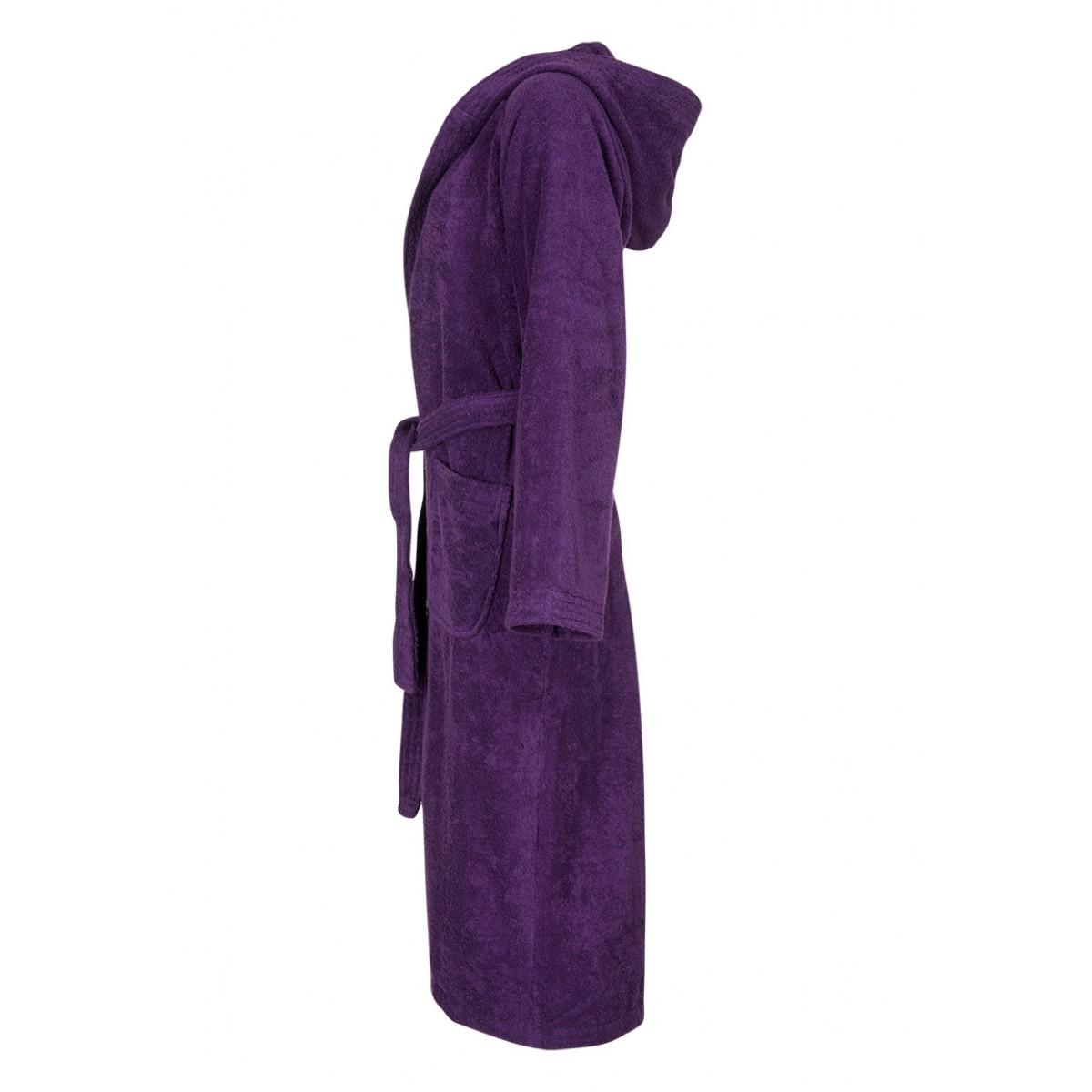 capuchon badjas paars