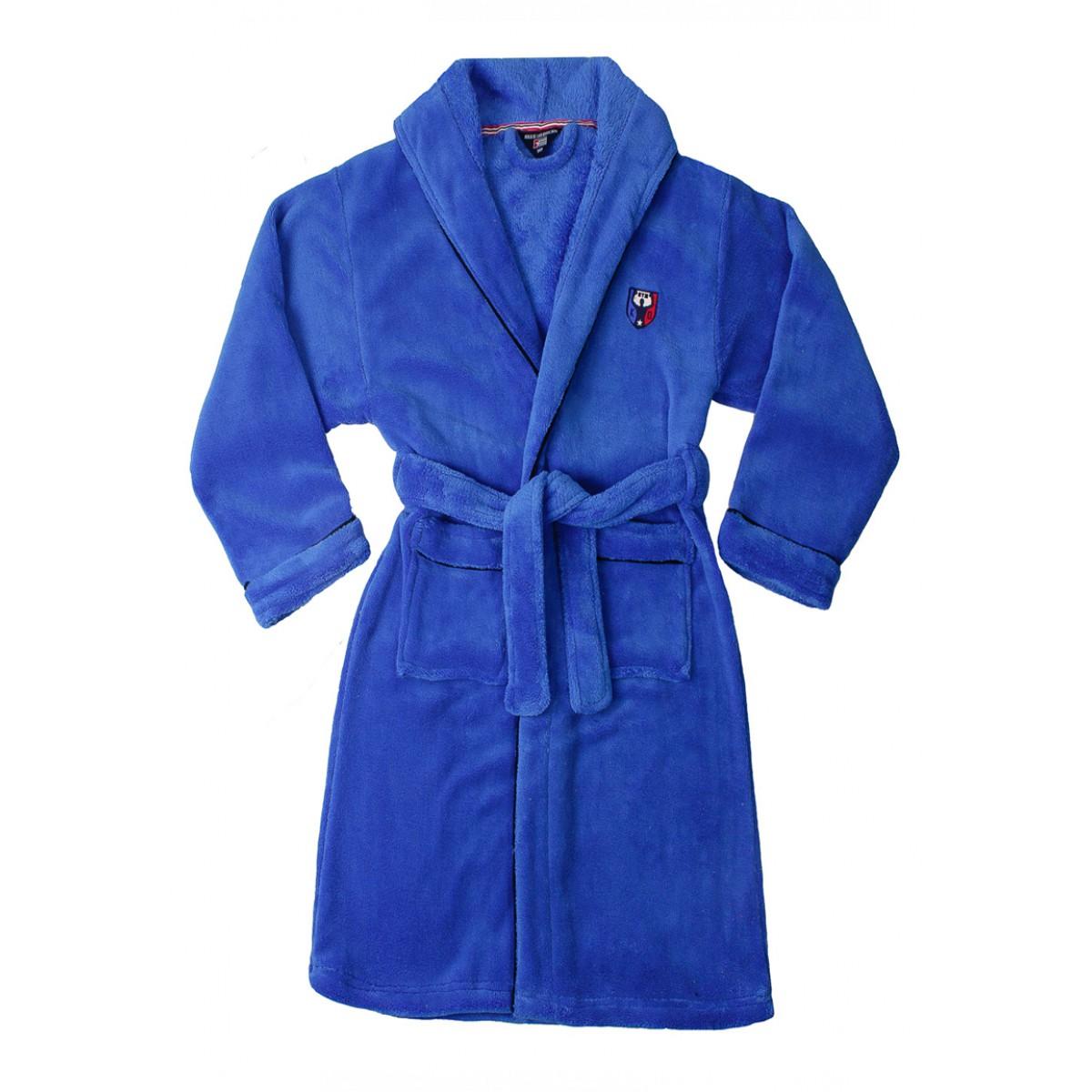 Middenblauwe badjas kind