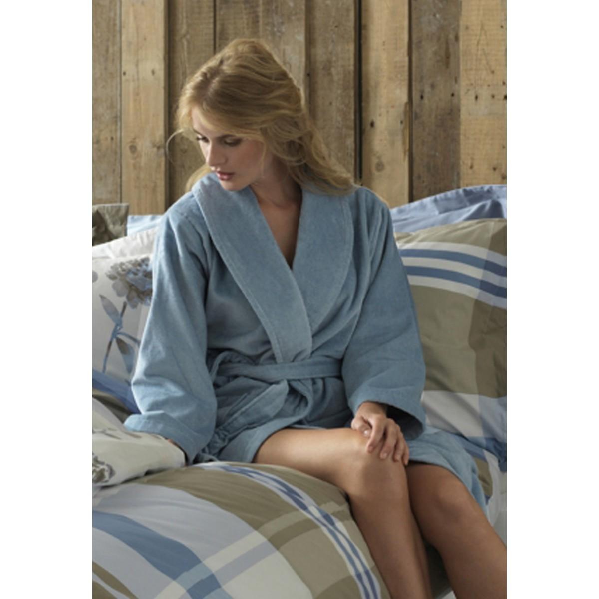 Lichtblauwe badjas VanDyck