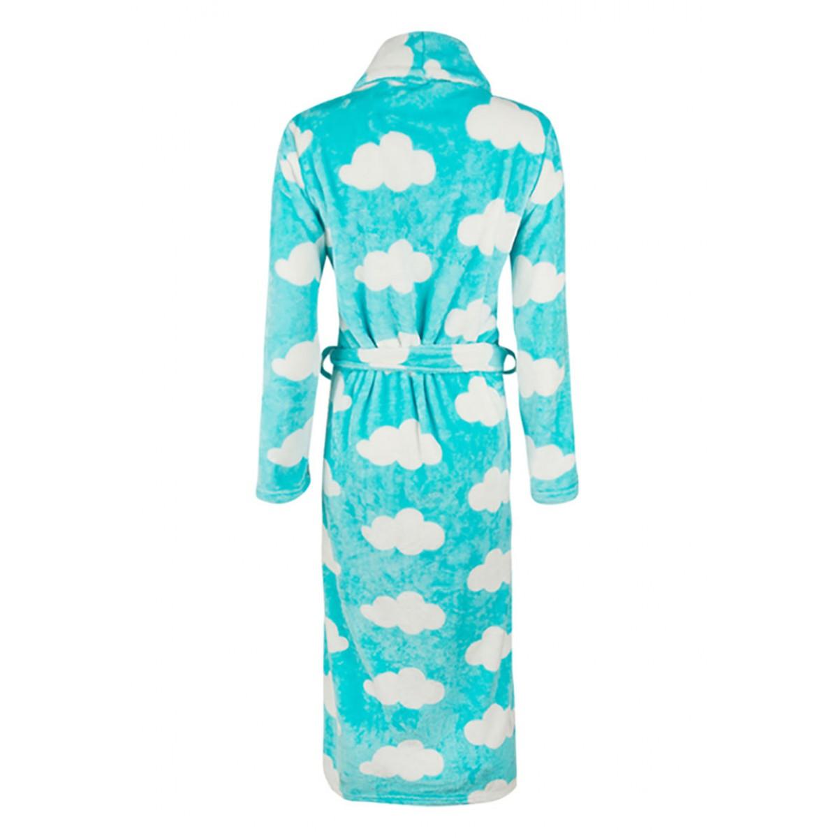 wolkenprint badjas