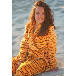 Dames badjas met dierenprint