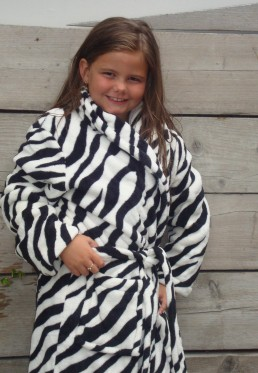 zebraprint badjas kind