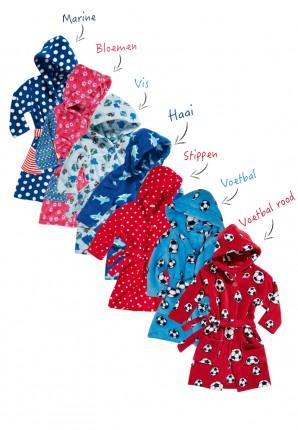kinderbadjassen met print