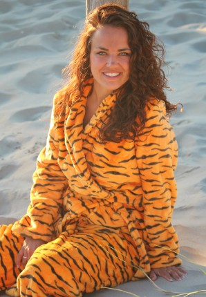 badjas met dierenprint