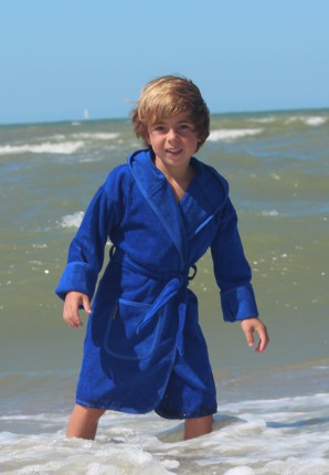 Koningsblauwe badjas kind