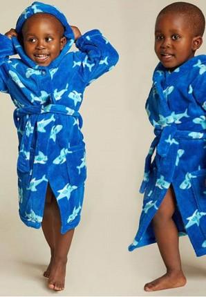 jongens badjas met haaien