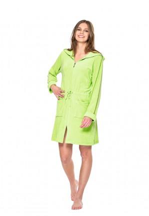 Limoen groene badjas met rits