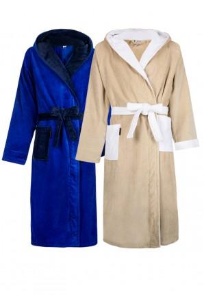 Capuchon badjas 2 kleuren