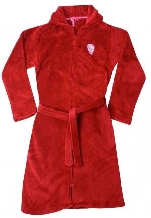 rode badjas kind met rits
